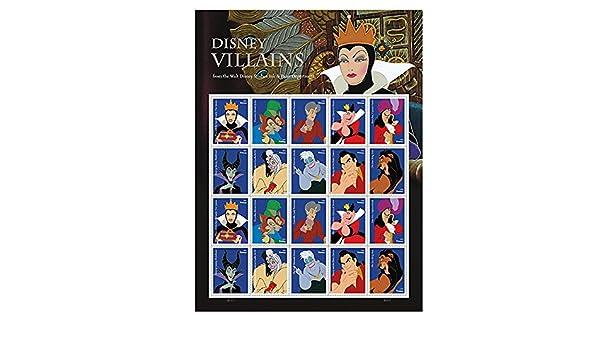 Hobbies Walt Disney Villains Sheet of 20 Forever USPS First