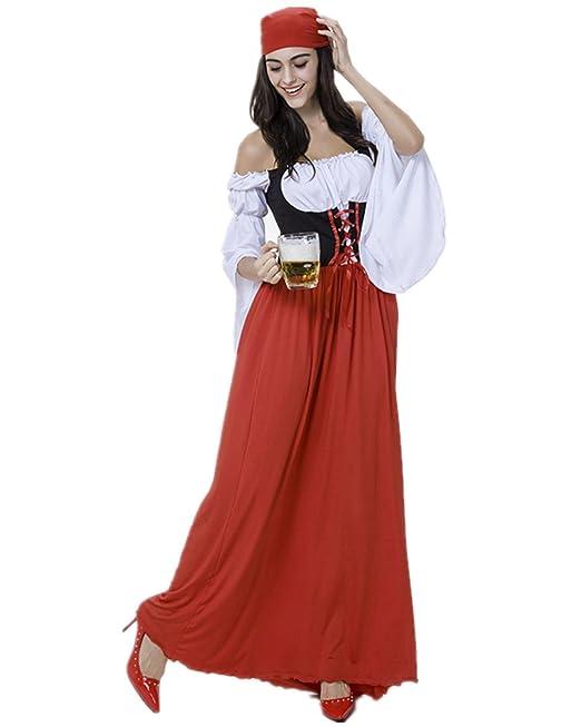 Disfraz de bavara Mujer Vestido de Oktoberfest Cosplay ...