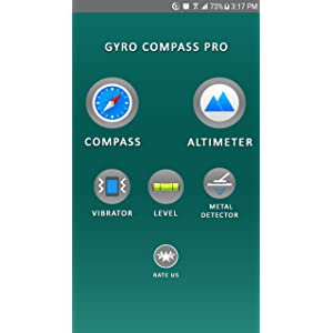 Gyro Compass Pro: A Toolkit with Altimeter - Metal Detector - Level and Vibrator - Ads Free: Amazon.es: Appstore para Android
