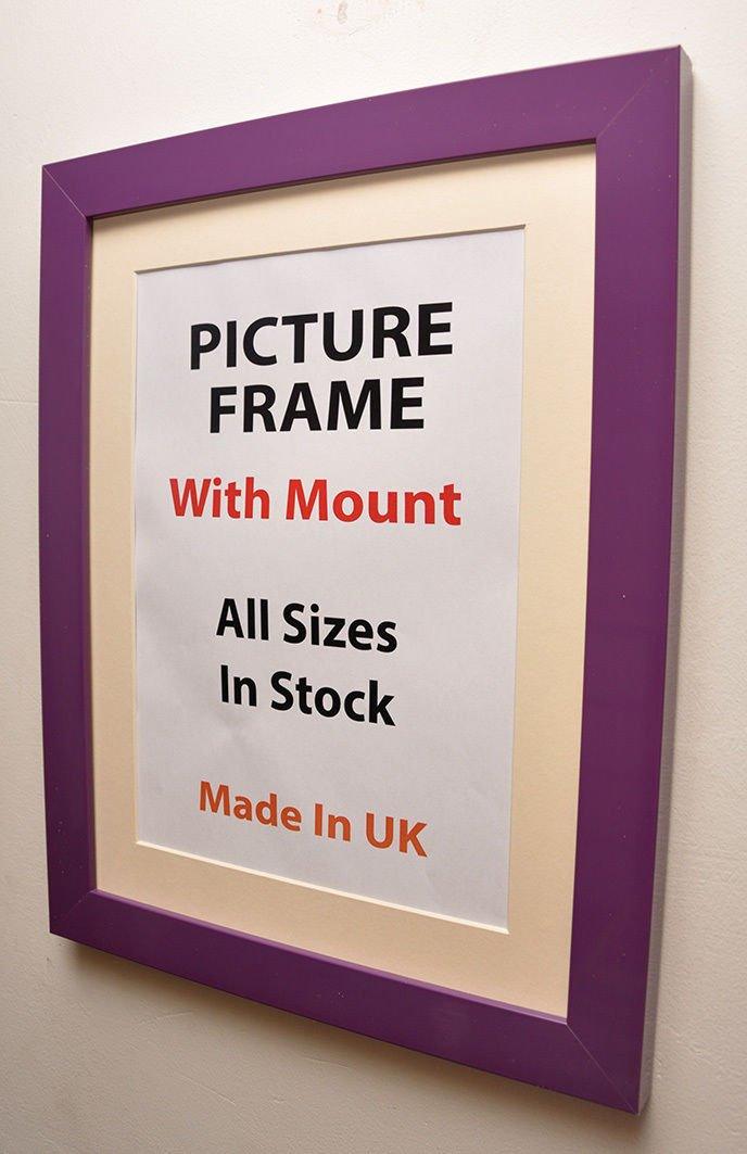 Amazon.de: Kwik Picture Framing Bilderrahmen | 30 mm violett ...