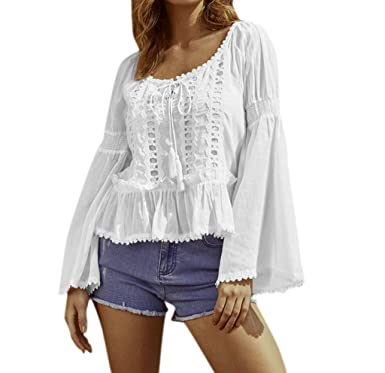 Darringls Magliette Manica Lunga Donna Camicia Elegante Tops