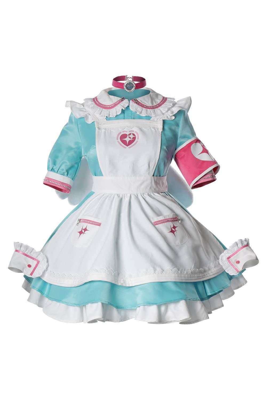 Blau Maßanfertigung MingoTor The Idolmaster Cinderella Girls Yumemi Riamu Cosplay Kostüm Maßanfertigung