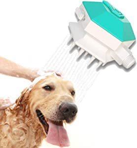 NMGGGU pet Shower Nozzle pet Bathing Too Sprayer 3 in 1 Shampoo Cleaning Innovative Brush Massaging Dog and cat Bath tub Outdoor Garden Hose Compatible