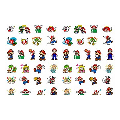 Super Mario and Characters Pixel Stickers Assorted Lot of 25 Pieces: Kitchen & Dining