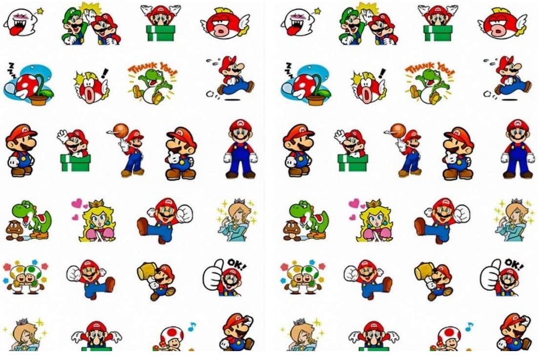 Amazon Com Super Mario And Characters Pixel Stickers Assorted Lot