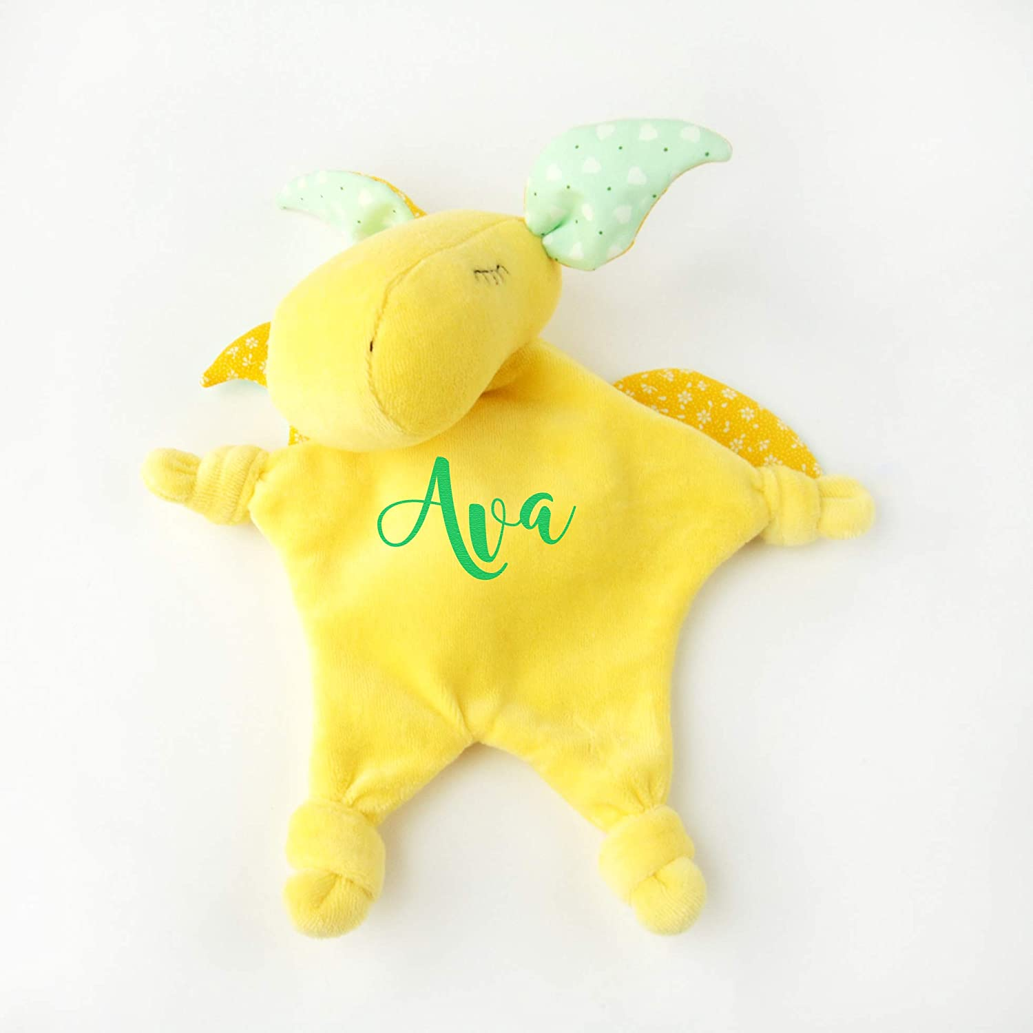 Personalized Baby Stuffed Animals, Amazon Com Personalized Custom Embroidered Baby Comforter Toy Baby Boy Gift Dragon Handmade