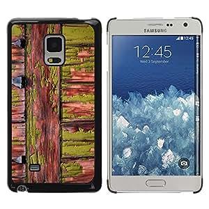 TopCaseStore / la caja del caucho duro de la cubierta de protección de la piel - Green Wood Nature Natural Lines - Samsung Galaxy Mega 5.8 9150 9152