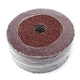 25Pack 4-1/2''x7/8''-Inch Center Hole Aluminum Oxide Resin Fiber Discs grit 24