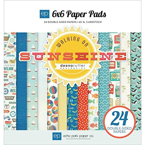 Echo Park Paper Company WS67023 Walking on Sunshine Paper Pads Scrapbook