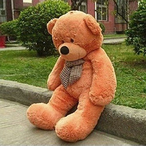 VERCART 55 inches Brown 140CM Giant Huge Cuddly Stuffed Animals Plush Teddy Bear Toy Doll by VERCART