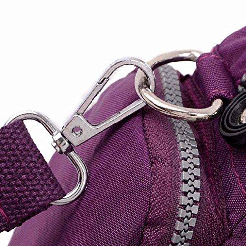 Waterproof Shoulder Messenger Black Women Handbag Nylon Diagonal Bag Kolylong Purple RFSqx