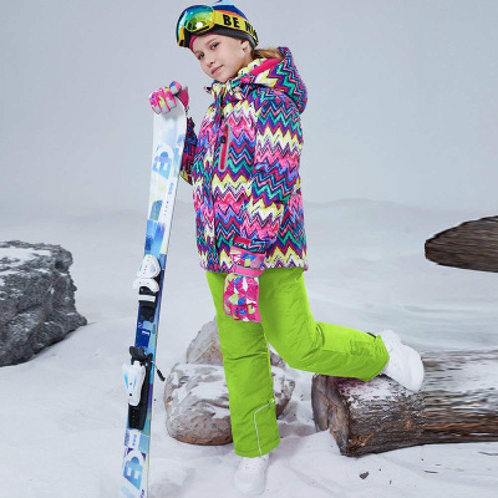 Farbe 6 M-10T ZYJANO Skianzug Anzug wasserdicht Mädchen Schnee Set Hosen Winter Skifahren und Snowboarden Jacke Kind, Farbe 8, XXL, 16T