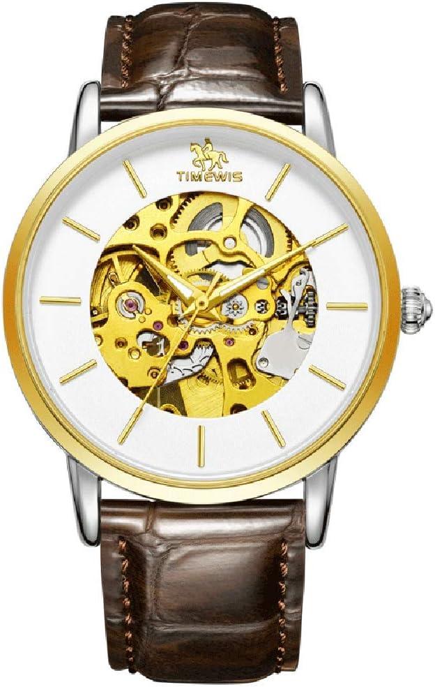 GLxlsbz Hombre Relojes de Pulsera Mecánico Automático, Calendario Analogicos Cuarzo Relojes de Hombre Deportivo Casual Clásicos Multifunción