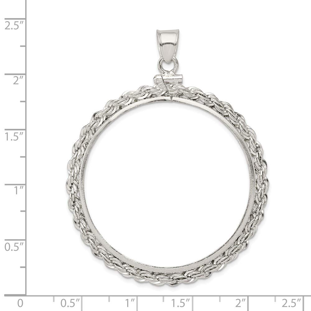 19.1 x 1.5mm Rope Coin Bezel Pendant