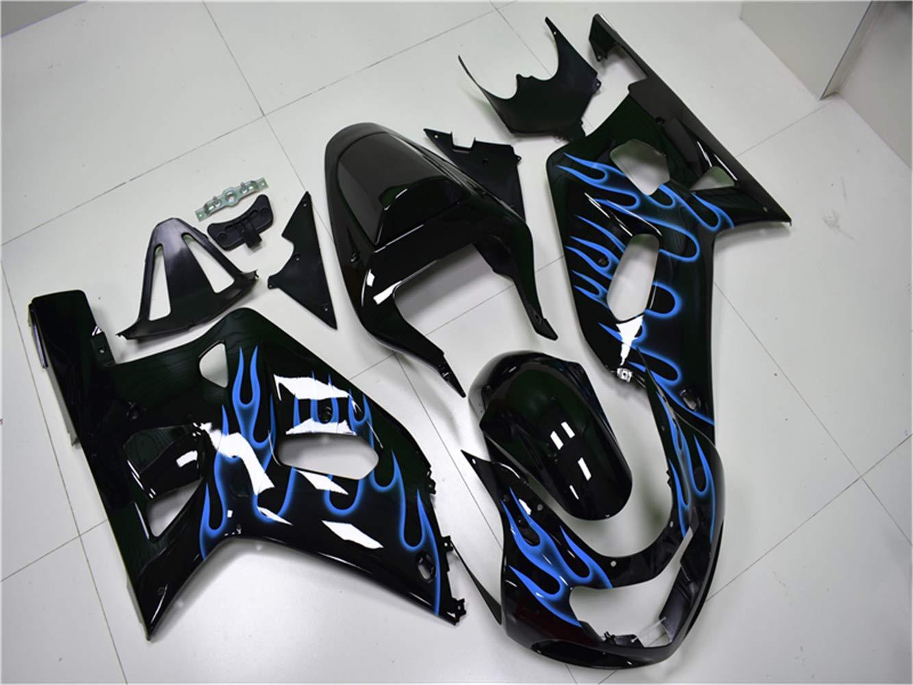 New Matte Black Fairing Fit for SUZUKI 2001 2002 2003 GSXR 600 750 Injection Mold ABS Plastics Aftermarket Bodywork Bodyframe GSX-R 600//750 01 02 03