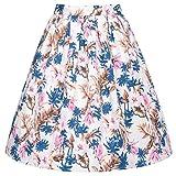 GRACE KARIN Floral Print Vintage Swing Skirt Knee Length Size S CL6294-27