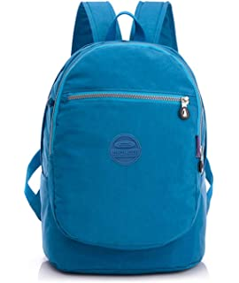 7a2069f4d163 Big Mango Fashion Backpack for Women Lightweight Water Resistant Nylon  Hiking Camping Daypack Multipurpose Travel Backpack