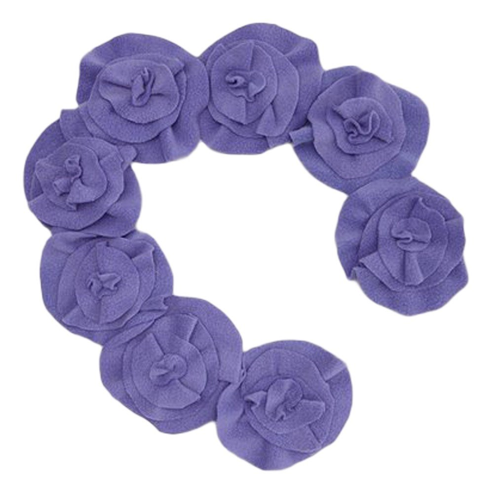 Little Miss Fashion Girls Purple Rosette Scarf