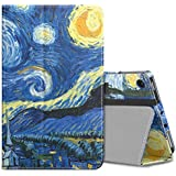 MoKo Case for All-New Amazon Fire 7 Tablet (7th Generation, 2017 Release Only) - Slim Folding Stand Cover Case for Fire 7, Starry Night (with Auto Wake/Sleep)