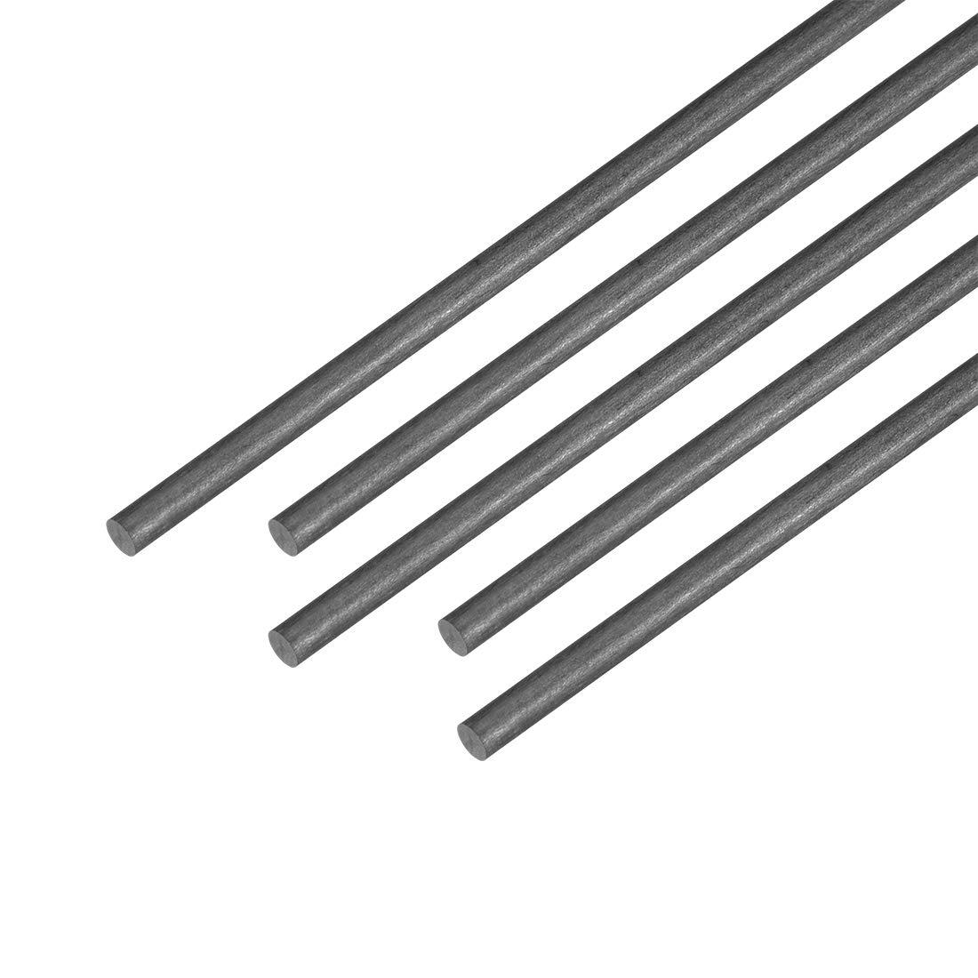 uxcell 2mm Carbon Fiber Bar for RC Airplane Matte Pole US 5pcs 400mm 15.7 inch