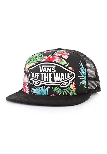 Vans Off The Wall Women s Beach Girl Trucker Snapback Hat Cap - Hawaiian  Black Floral  Amazon.ca  Clothing   Accessories 1ce8bfc557b