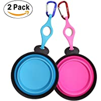 2-Pack PerSuper Collapsible Dog Bowl