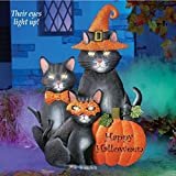 Decorative Lighted Halloween Cats Yard Stake, 28''H