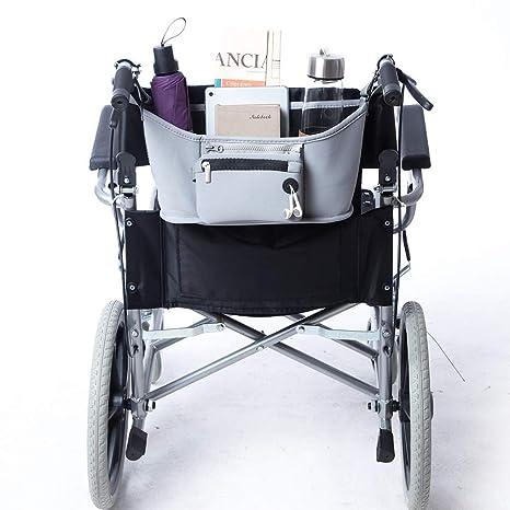 QEES GJB612 - Bolsa para silla de ruedas (incluye 2 bolsas, funda universal para scooter, funda de almacenamiento duradera con ruedas y estructura ...