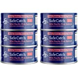 Safe Catch Canned Wild Pacific Pink Salmon Skinless and Boneless, No Salt Added, Mercury Tested, Kosher, 5oz Can, Pack of 6