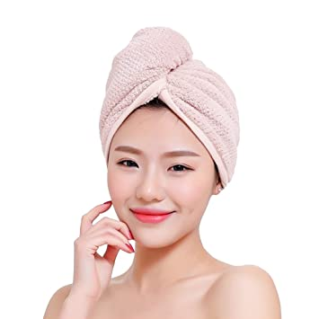 Towel Drying Hair Wrap Coral Fleece Bath Bathing Head Cap Twist Quick Dry Shower