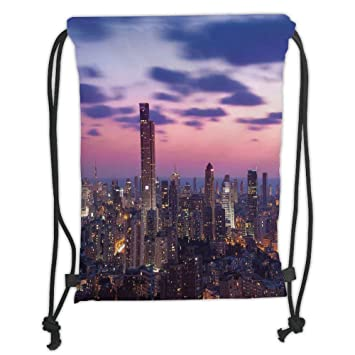 Purple Sky Drawstring Backpack Rucksack Shoulder Bags Training Gym Sack For Man And Women