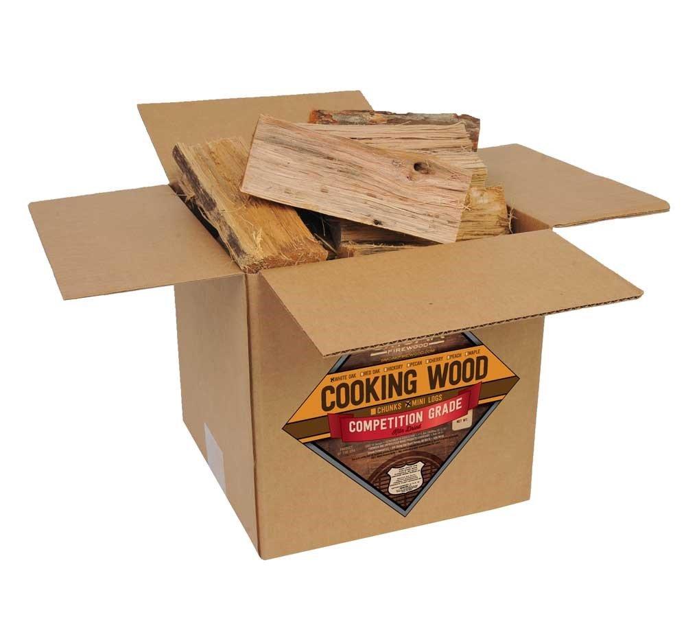 Smoak Firewood Cooking Wood Logs - USDA Certified Kiln Dried (White Oak, 8-10 lbs)