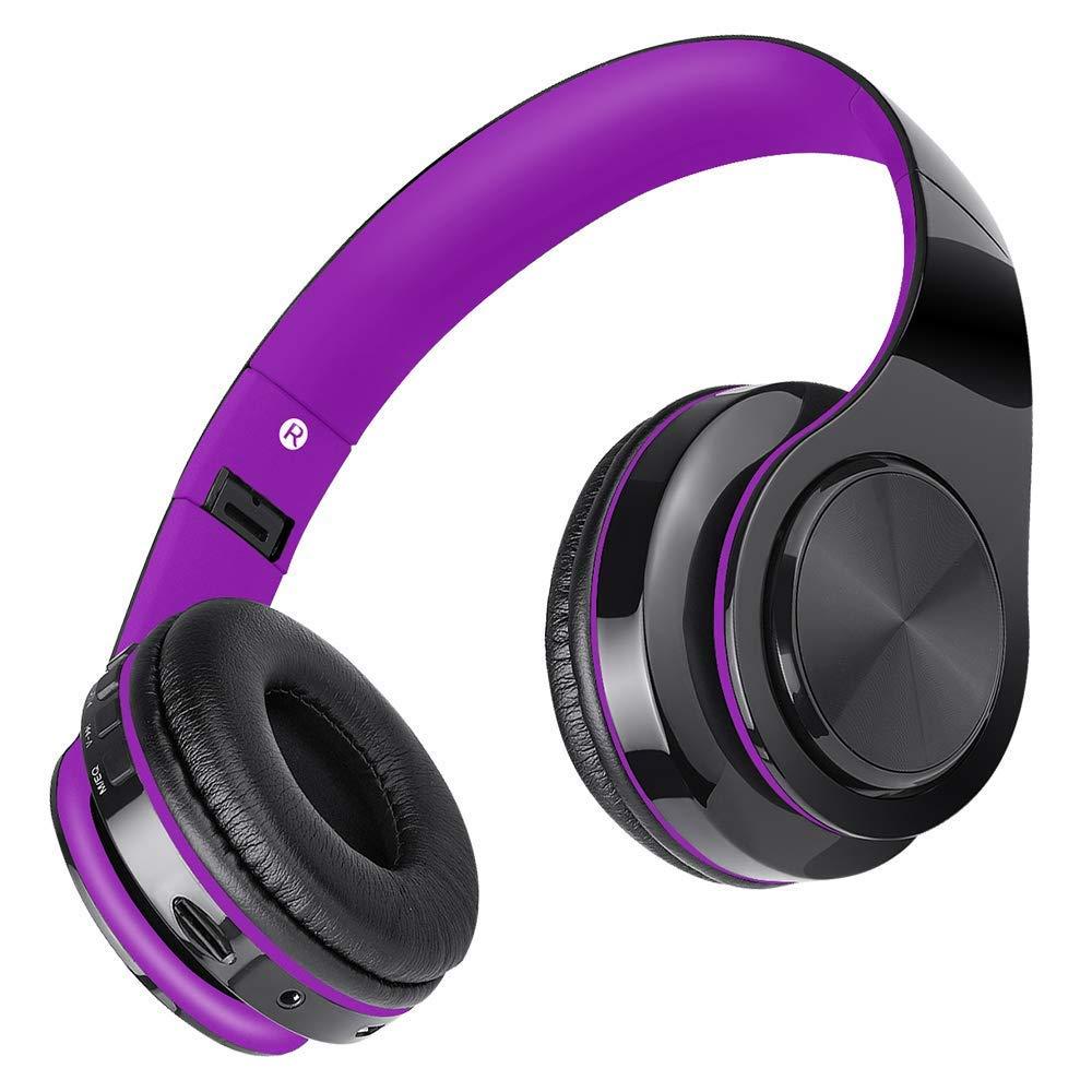Auriculares Inalámbricos Bluetooth con Micrófono, Auriculares Plegables con Cancelación de Ruido, Estéreo Fidelidad de