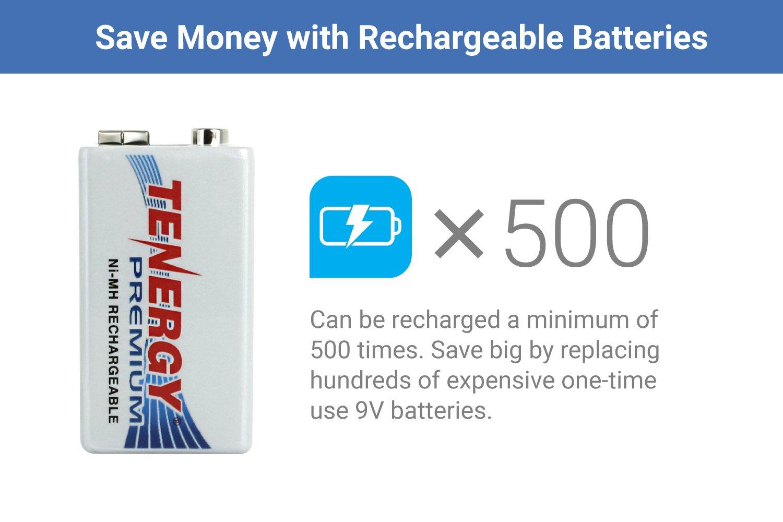 20 pcs of Tenergy Premium 9V 200mAh NiMH Rechargeable Batteries by Tenergy (Image #2)