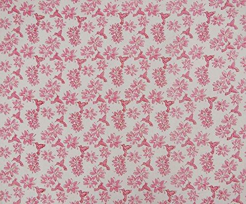 (Hand Block Floral Print Dressmaking Cotton Fabric 45