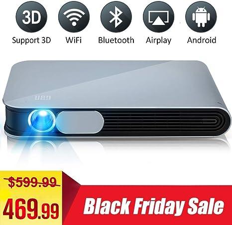 WOWOTO DLP Mini Projector 3D Full HD LED Projector 3200 Lumens ...