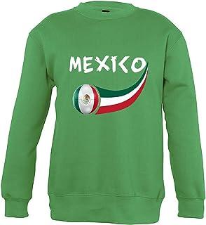 Supportershop 4Sweatshirt Messico 4Unisex Bambino, Verde, Fr: S (Taglia Produttore: 4Anni)