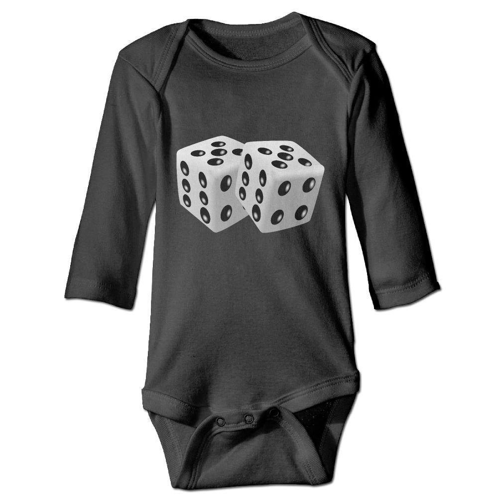 braeccesuit Infant Dice Long Sleeve Romper Onesie Bodysuit Jumpsuit