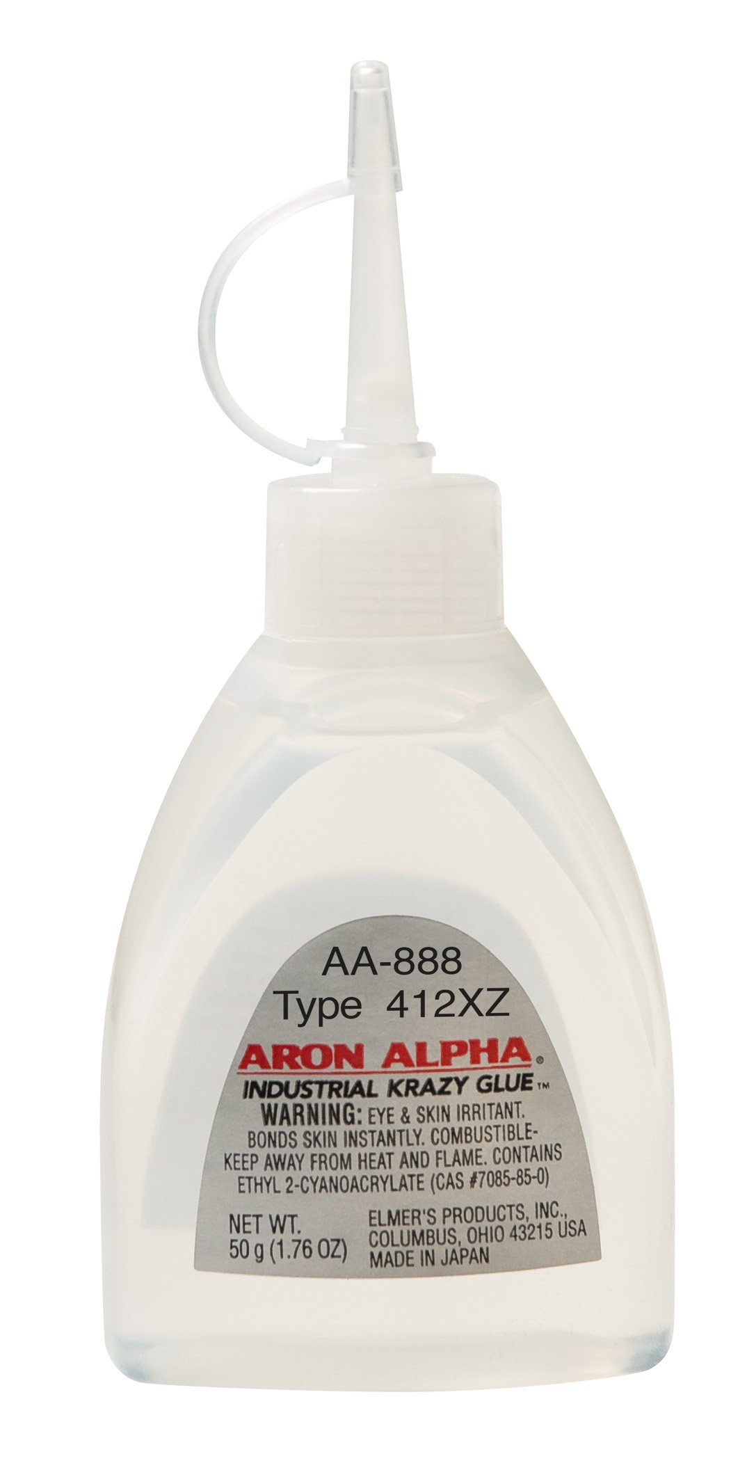 Aron Alpha 412XZ (100 cps) High Heat (250 F) and Impact Resistant Instant Adhesive 50 g (1.76 oz) Bottle by Aron Alpha Industrial Krazy Glue (Image #1)