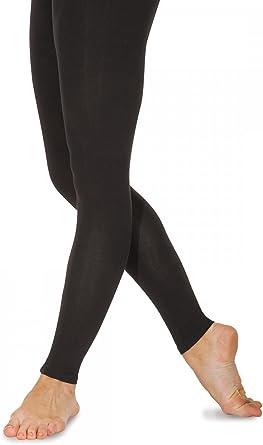 Black Nylon Lycra Stirrup Tights size 1