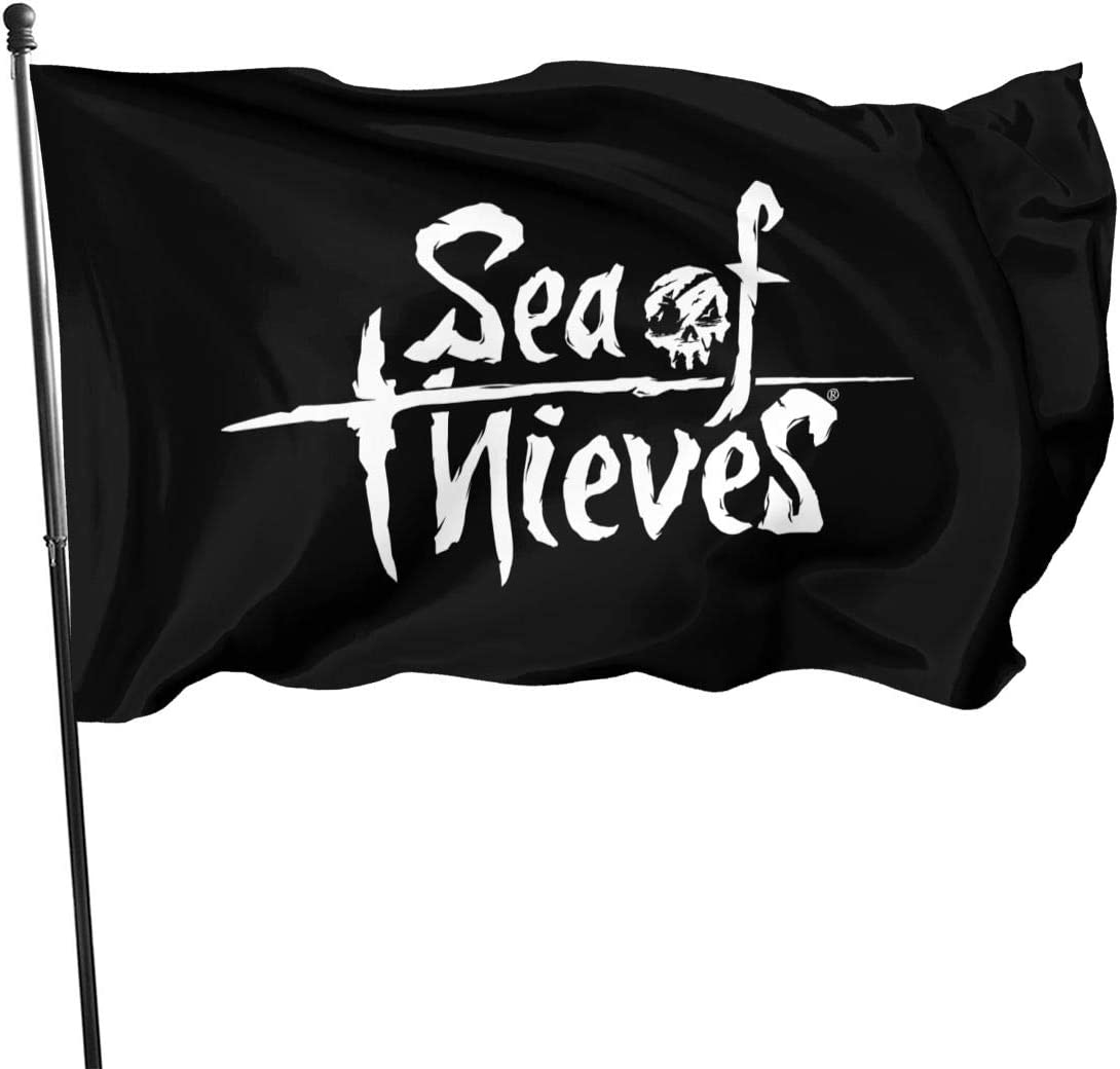 NYF Sea of Thieves Logo Customized Lightweight Flag 3x5 Ft, Single-Sided Garden Flags for Inside Outside Use Uv Protected
