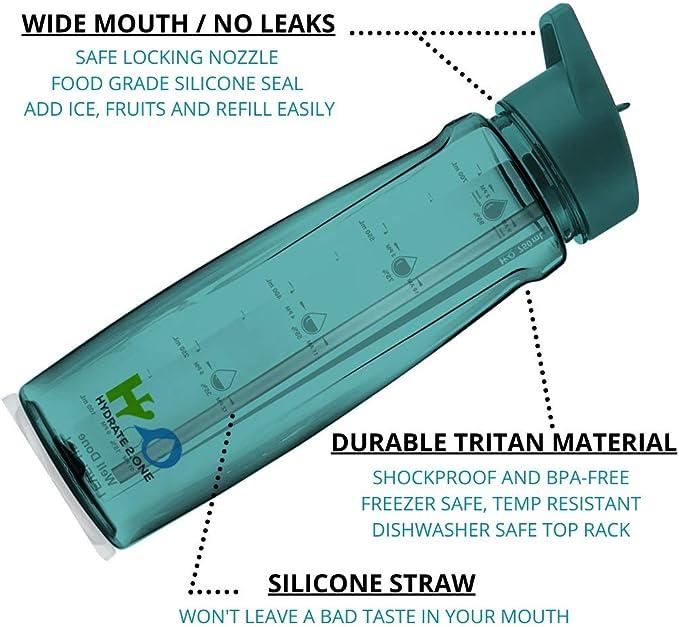 TOTO & TATA Botella de agua a prueba de fugas 750 ml y sin BPA ...