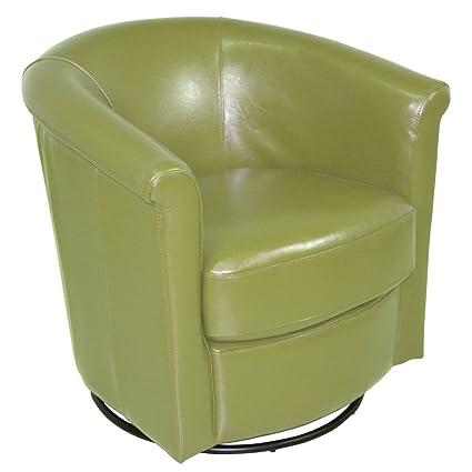 Porter Designs AC211 Marvel Swivel Accent Chair, Green