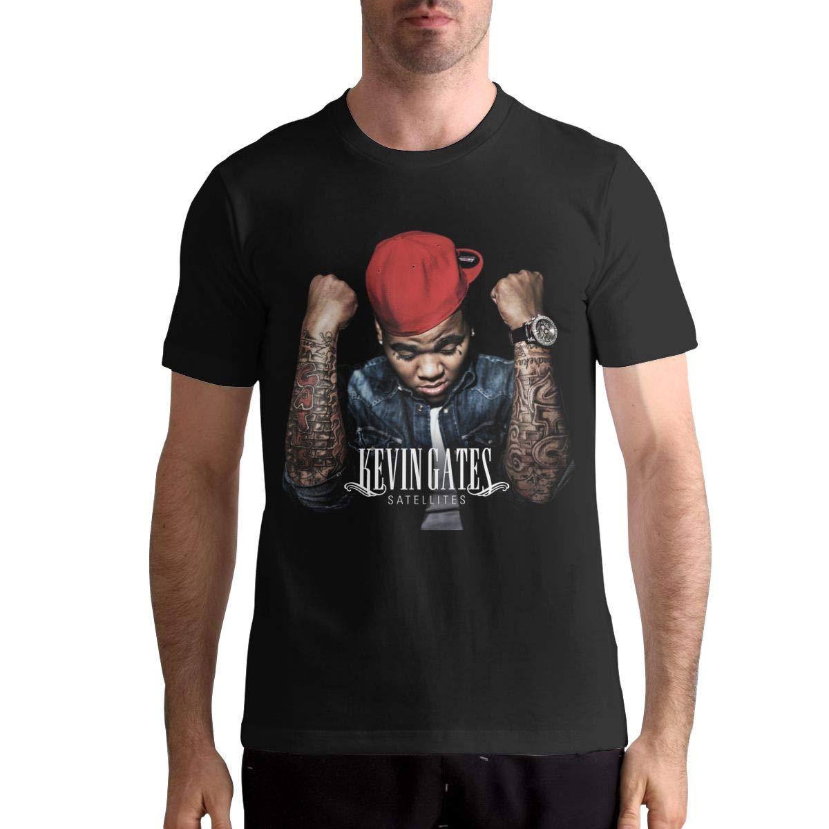 Kevin Gatessatellites S Fashion Short Sleeve Music Band Shirt Black