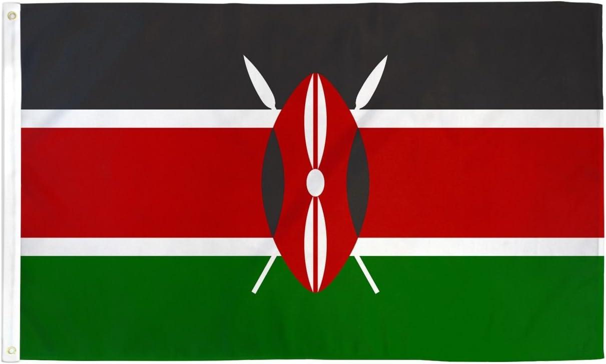 2x3 Kenya Flag Kenyan Country Banner African Pennant Outdoor 24x36 Inches Garden Outdoor