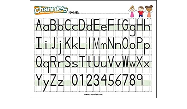 Amazon.com : Channie's Visual Handwriting Alphabet Card for ...