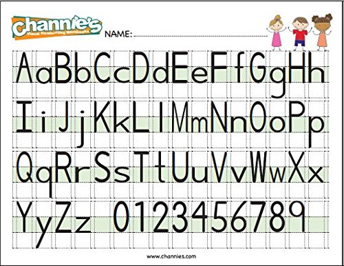 Counting Number worksheets handwriting worksheets for grade 2 : Amazon.com : Channie's Visual Handwriting Alphabet Card for ...