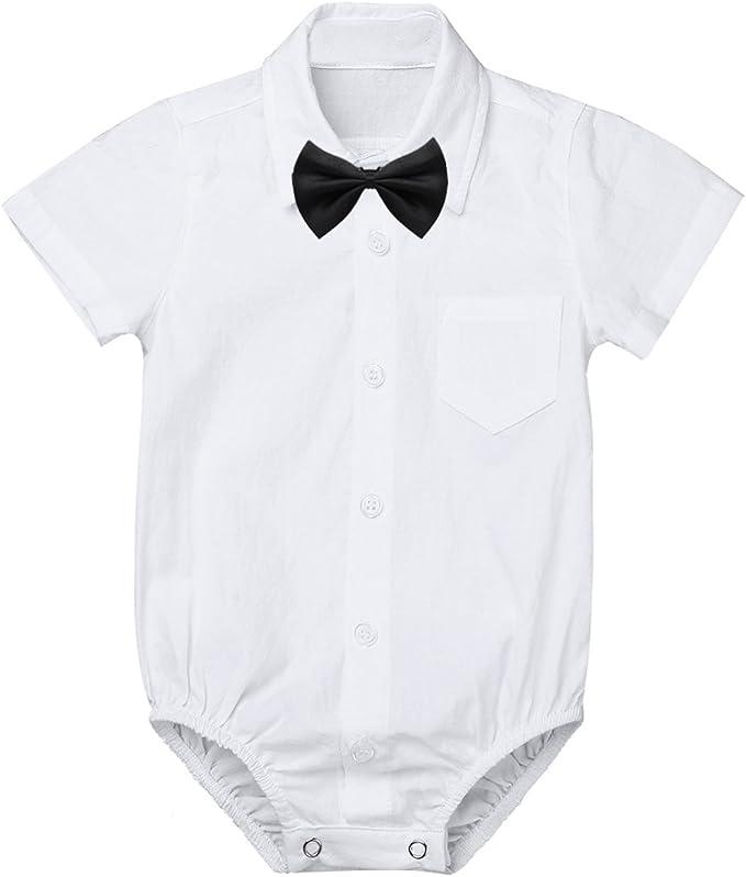 YOOJIA Bebé Niños Mono Corto con Solapa Camisa Formal de Caballero ...