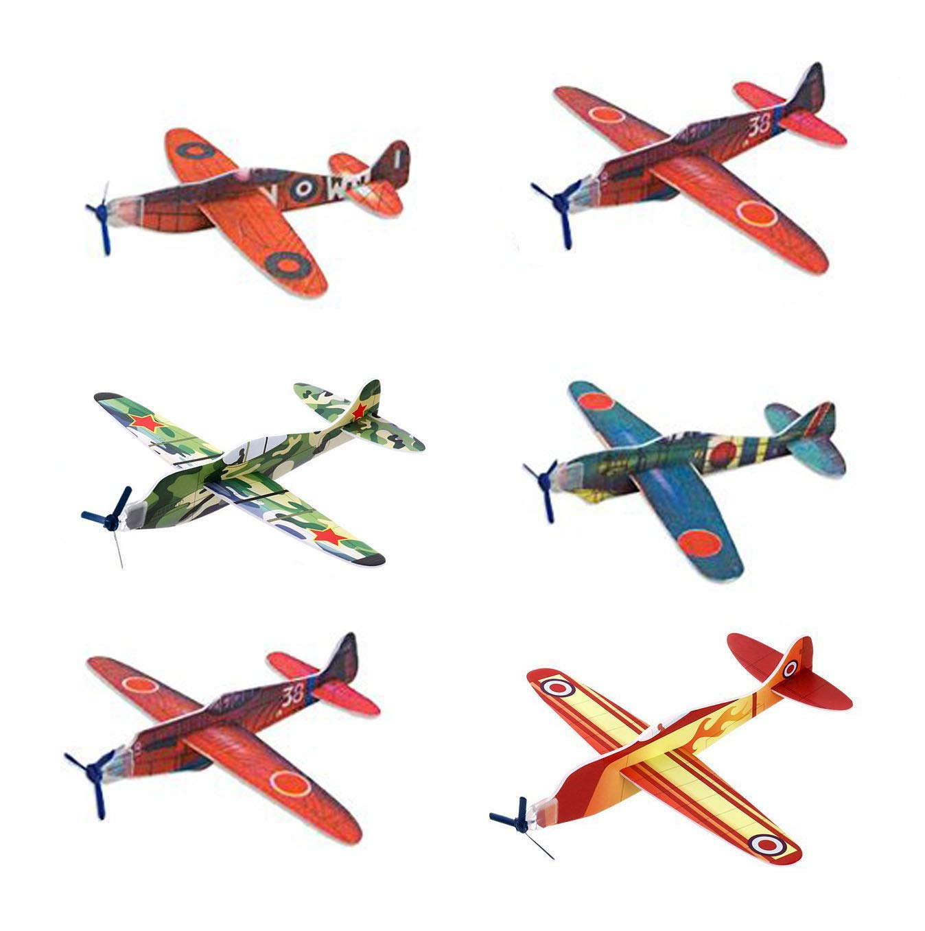 AISHNE Glider Plane Flying Gliders For Kids Foam Hand Airplane Kit Toys 24 Pack