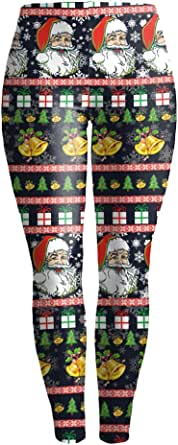 MS Mouse Women's Digital Print Christmas Costume Active Leggings Tights